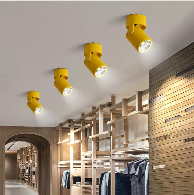 focus background wall living led ceiling surface spotlights mounted suction cob 10w macaron universal lights lighting