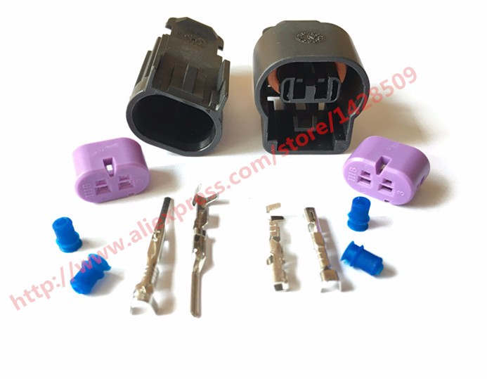 Delphi 20 Set 2 Pin Female Male Kit GM Wire Harness Connector 1 5A Plug 15326801 delphi 20 set 2 pin female male kit gm wire harness connector 1 5a  at highcare.asia