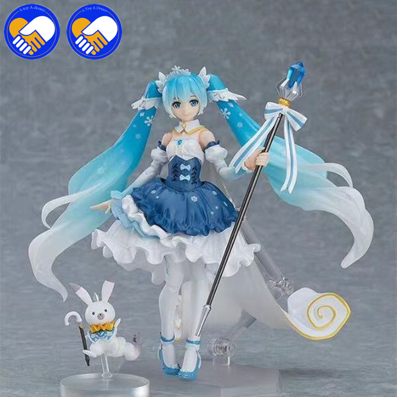 NEW Vocaloid Hatsune Miku Figma EX-054 Snow Miku Snow Princess Anime PVC Action Figures Anime Toys For Kids Children Gift