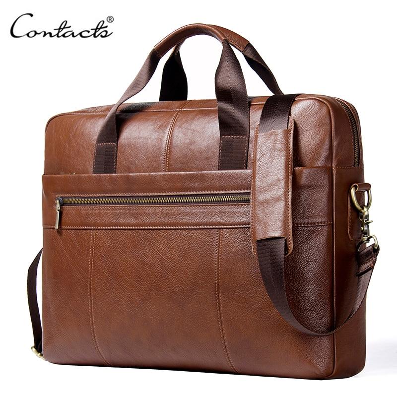 Real Leather Messenger Bag 15.6 inch MacBook//Laptop Crossbody Shoulder Bag