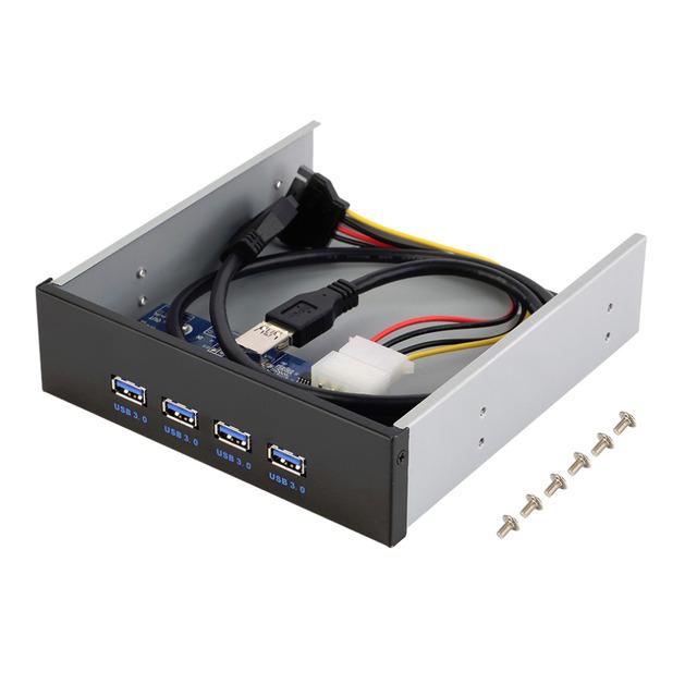 4 Portas USB 3.0 Hub Multi Suporte Do Painel Frontal da Unidade de Expansão de 20 Pinos PC Atacado