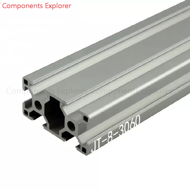 Arbitrary Cutting 1000mm 3060 Aluminum Extrusion Profile,Silvery Color.
