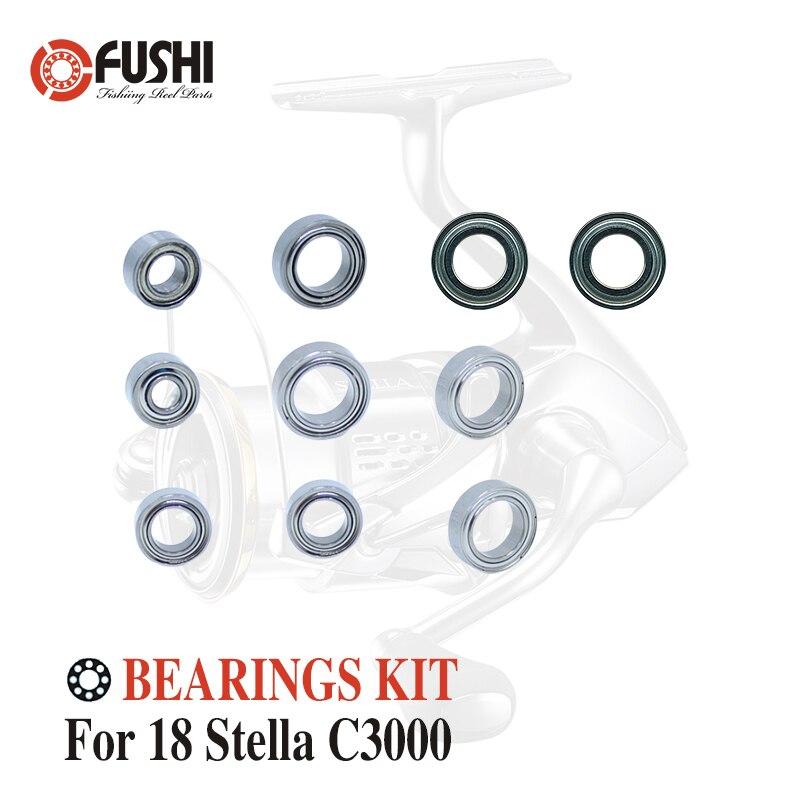 Fishing Reel Stainless Steel Ball Bearings Kit For Shimano 18 Stella C3000 / 03803 Spinning Reels Bearing Kits