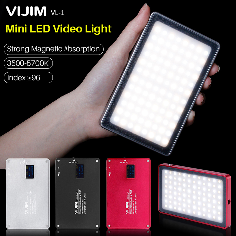 $39.00 VIJIM VL-1 96 Beads Photography Dimmable LED Camera Video Light 3500k-5700k with High Color-rendering Index for iphone 8 X DSLR
