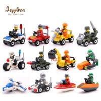 Joyyifor 12 Arten Original Mini Transport Blöcke Auto Bagger Gebäude Bricks Kompatibel legoingly Soliders Spielzeug