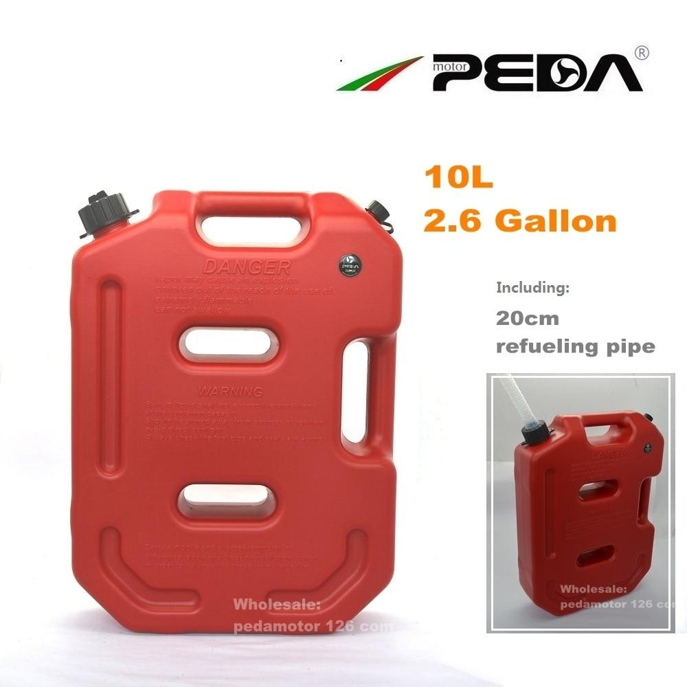 10L GAS CAN Jerry Can Qırmızı Portativ yanacaq anbarı Plastik - Motosiklet aksesuarları və ehtiyat hissələri - Fotoqrafiya 3