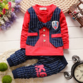 2016 New Summer Cotton Baby Boys Clothing Set Children vest fake two jacket tops+ Longs Set Kids Casual summer Clothes set Suits