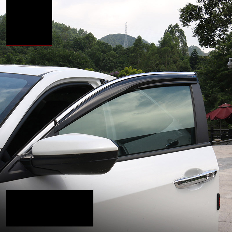 lsrtw2017 car styling car window rain shield door visor for honda civic 2016 2017 2018 10th civic