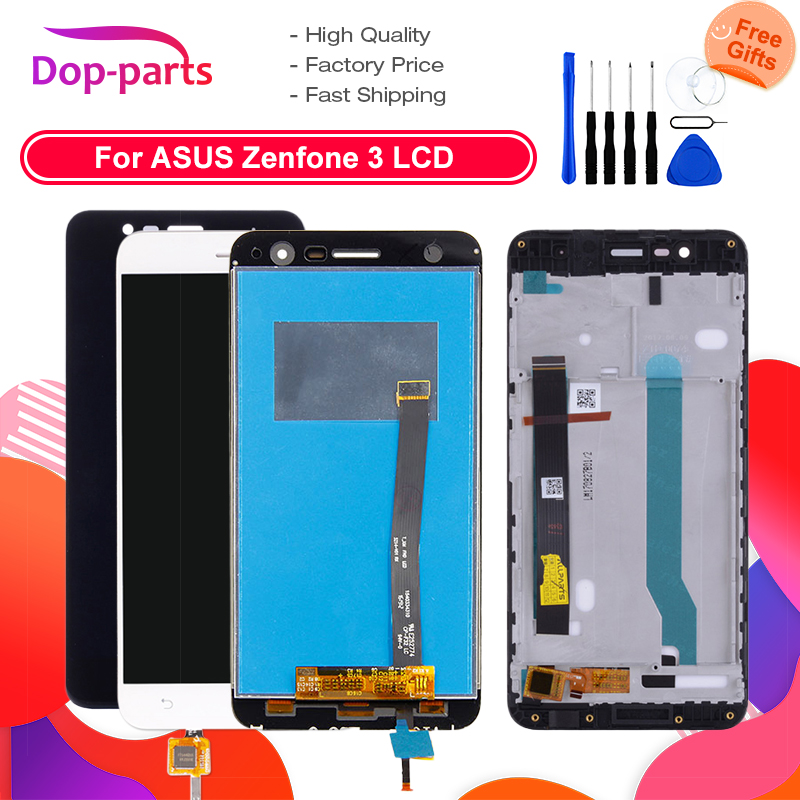 For <font><b>Asus</b></font> <font><b>ZenFone</b></font> <font><b>3</b></font> <font><b>ZE552KL</b></font> <font><b>LCD</b></font> <font><b>Display</b></font> Panel Touch Screen Digitizer Assembly With Frame For ZE 552KL Z012D Z012DC Z012DA image