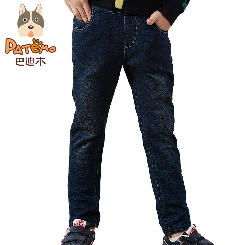 PATEMO Boys Jeans 2017 Spring Autumn Denim Pants for Kids Casual Five Pockets Jeans Fashionable Children