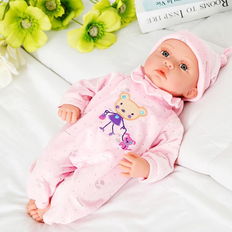 Ny 18-tommers livlig gjenfødt baby myk vinyl ekte touch dukke - Dukker og tilbehør - Bilde 3