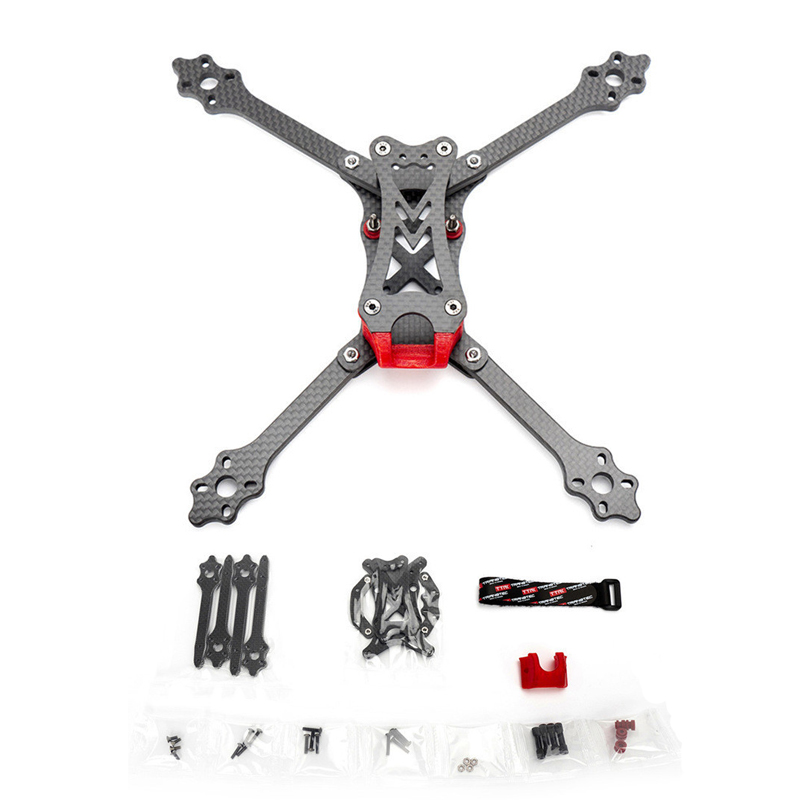 TransTEC Laser Lite 224mm Wheelbase 5mm Arm Full 3K Carbon Fiber 5 Inch Frame Kit for RC Drone FPV Racing Parts Accessories