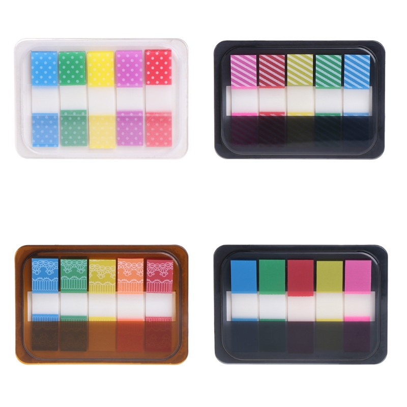 5 Pads/Set Bookmark Index Tabs Creative Fluorescent Sticky Notes Page Marker