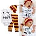 Snuggle Muggl 3pcs Baby Clothing Set Newborn Baby Boys Girls Snuggle This Muggle Bodysuit Legging Pants Baby Beanies Hats