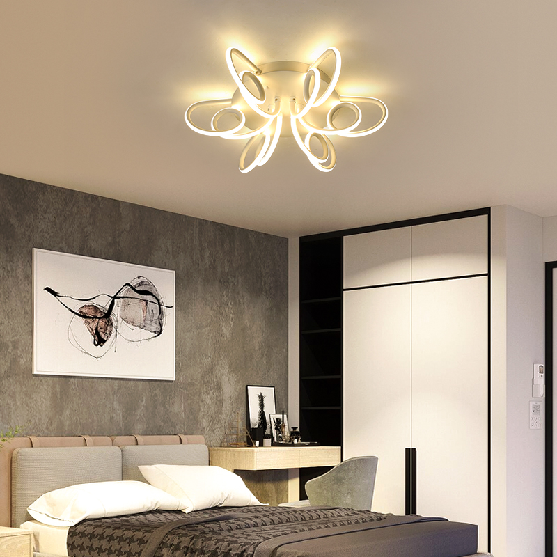 Image 5 - NEW Modern LED Chandeliers For Living Room Bedroom Diningroom Fixture Chandelier Ceiling lamp Dimming home lighting luminarias-in Chandeliers from Lights & Lighting