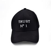 Trust No1 Dad cap men women fashion Baseball Cap Unconstructed Hip hop snapback hats