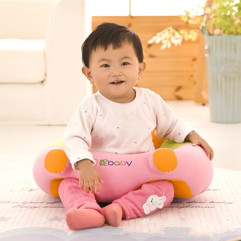 цена на Children Cartoon Sofa Baby Learning Sitting Seat Infant Safety Sofa Chair Infant Dinner Chair Children Seat Plush Toys Supplies