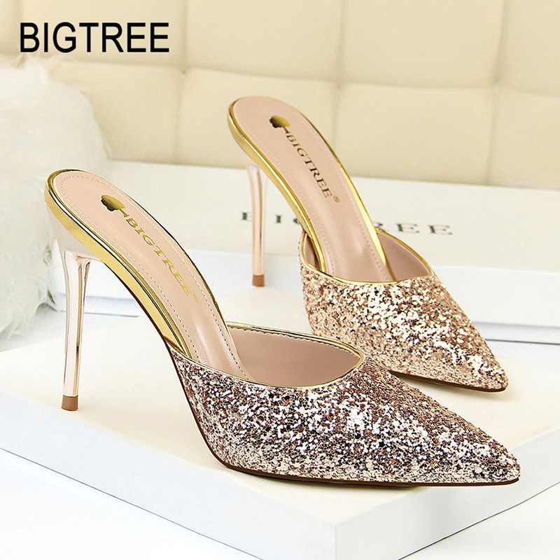 BIGTREE Woman Pumps Sexy High Heel Shoes Pointed Toe Sandals Women White Heel  Lady Shoes Bigtree Women Luxury Shoes Party Shoes 975c58c02a5a