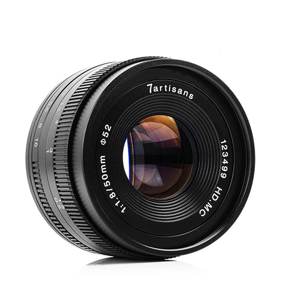 7artisans 50mm f1.8 Large Aperture Portrait Manual Focus Micro Camera Lens  Fit for Canon eos m Mount E Mount Fuji FX Amount-in Camera Lens from  Consumer ...