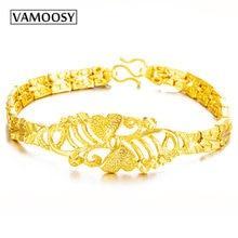 Женский медный браслет vamoosy с золотым покрытием и кристаллами