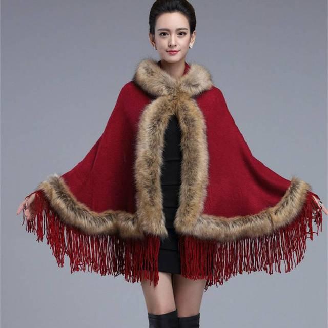 #2919 Пашмины шарф люксовый бренд Платки и шарфы Кисточкой Меха Пашмины Искусственного Меха Пальто модно Пончо feminino inverno Плащ