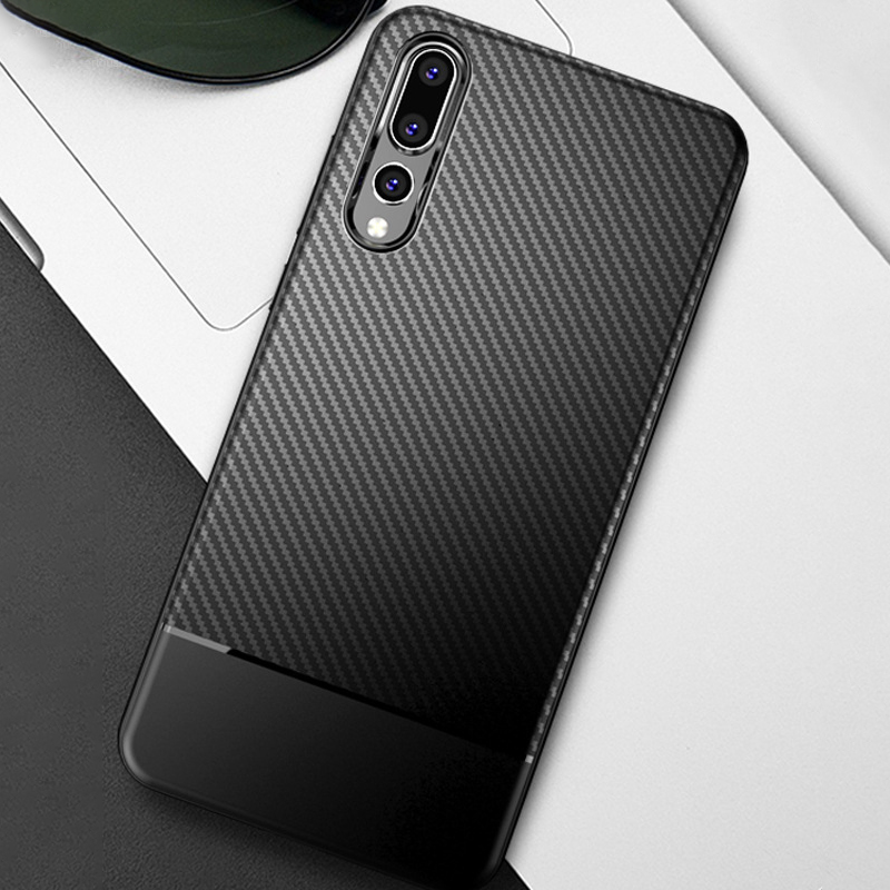 Case For Huawei P20 Pro Lite Soft TPU Bumper Airbag Anti-Knock Cover Protective Mobile Phone Bag