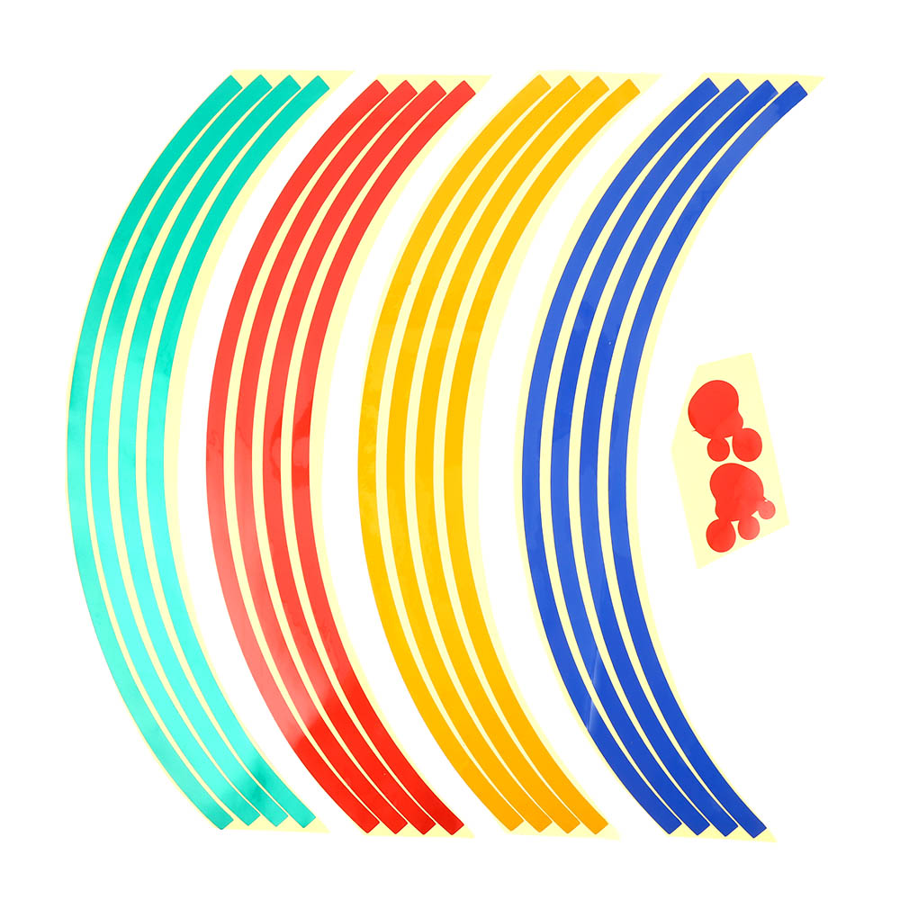 16 Pcs Strips Car Accessories Motorcycle Wheel Hoop Tape Sticker Reflective Bicycle Decals For HONDA YAMAHA SUZUKI Harley BMW