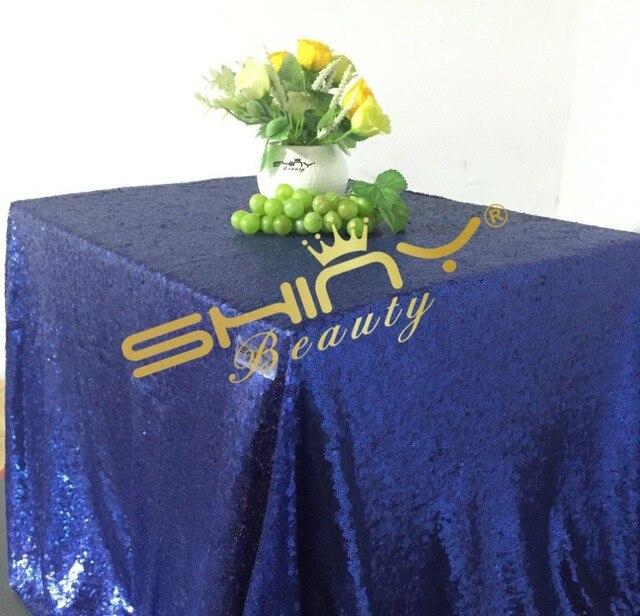 50u0027u0027*50u0027u0027 Navy Blue Sequin Tablecloth, Sequin Table Linens,