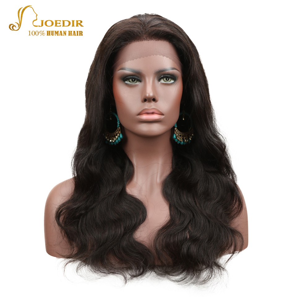 Joedir 10 To 24 Inch Lace Frontal Wigs Body Wave Human Hair Wigs For Black Women Remy Brazilian Body Lace Front Wig Human Hair