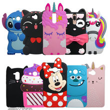 3D Cartoon Ring cat Silicone case For Huawei Mate 10 Lite cover For Nova 2i / Honor 9i/Y3 2017 Y5 2017 Y6 2017 Y7 2017 Y7 PRIME(China)
