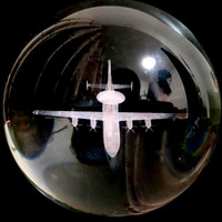 80/100mm 3D laser engraving aircraft model K9 crystal ball home decoration ball. TV cabinet desk decoration
