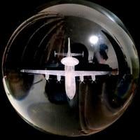80/100mm 3D laser engraving aircraft model K9 crystal ball home decoration ball. TV cabinet desk decoration
