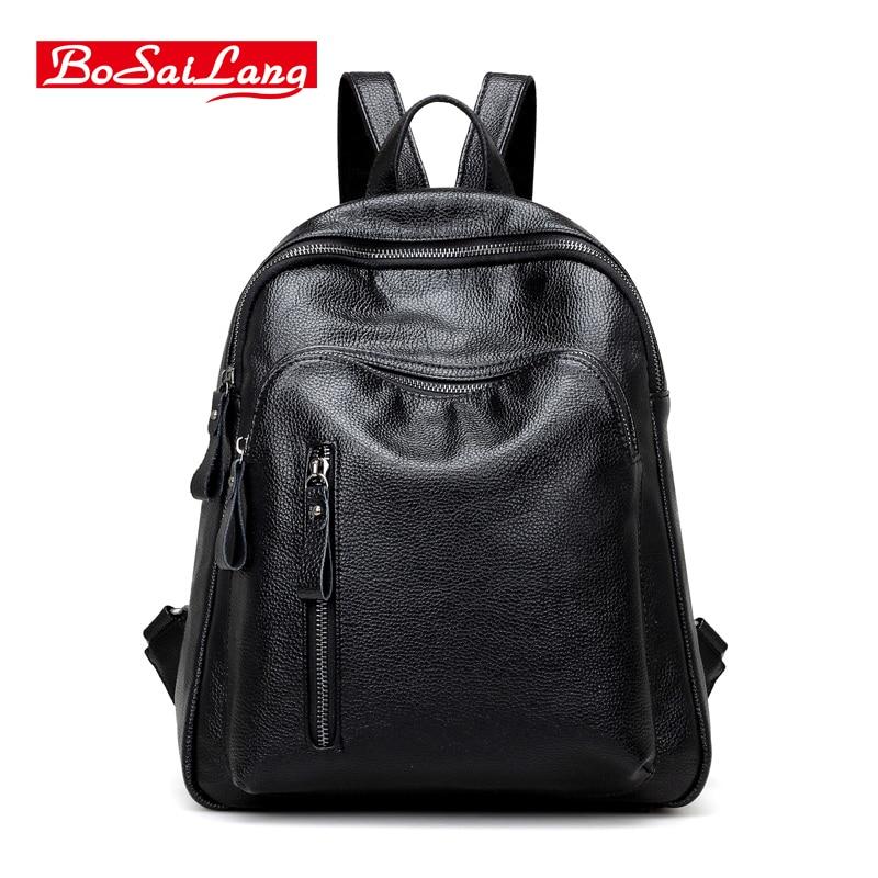 High Quality Backpack Korean Women Backpack Leisure Student Schoolbag Soft PU Leather Women Bag