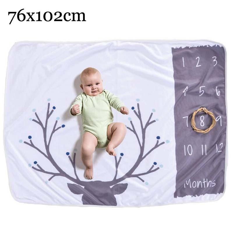 Прямоугольное одеяло-Ростомер для новорожденного ребенка/ребенка, подарок для мальчика, одеяло для фотосъемки 76X102 см - Цвет: circle