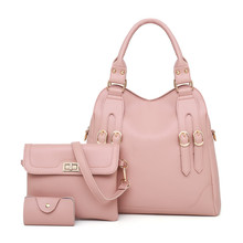 Women s Bag 2018 New Three-piece Set Female Composite Bag One Shoulder Bag  Fashion Large. 6 Colors Available d01a565ca7011