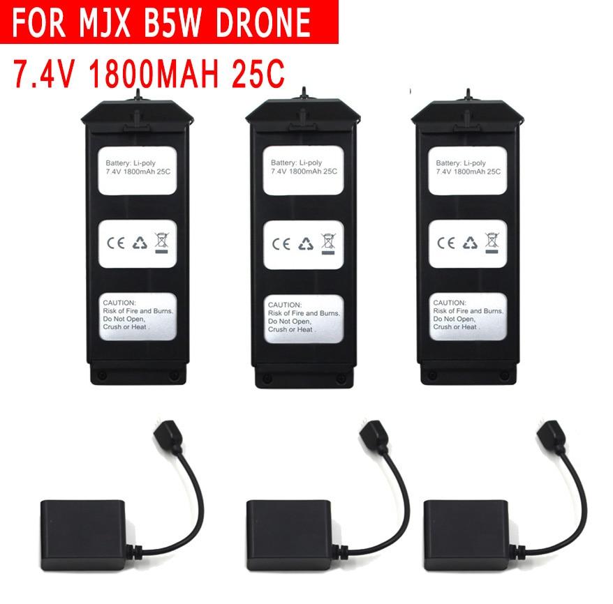 Original MJX Bugs 5W B5W 7.4V 1800 MAH Li-Po Battery for MJX B5W Brushless GPS RC Drone Spare Parts Accessories BatteryOriginal MJX Bugs 5W B5W 7.4V 1800 MAH Li-Po Battery for MJX B5W Brushless GPS RC Drone Spare Parts Accessories Battery