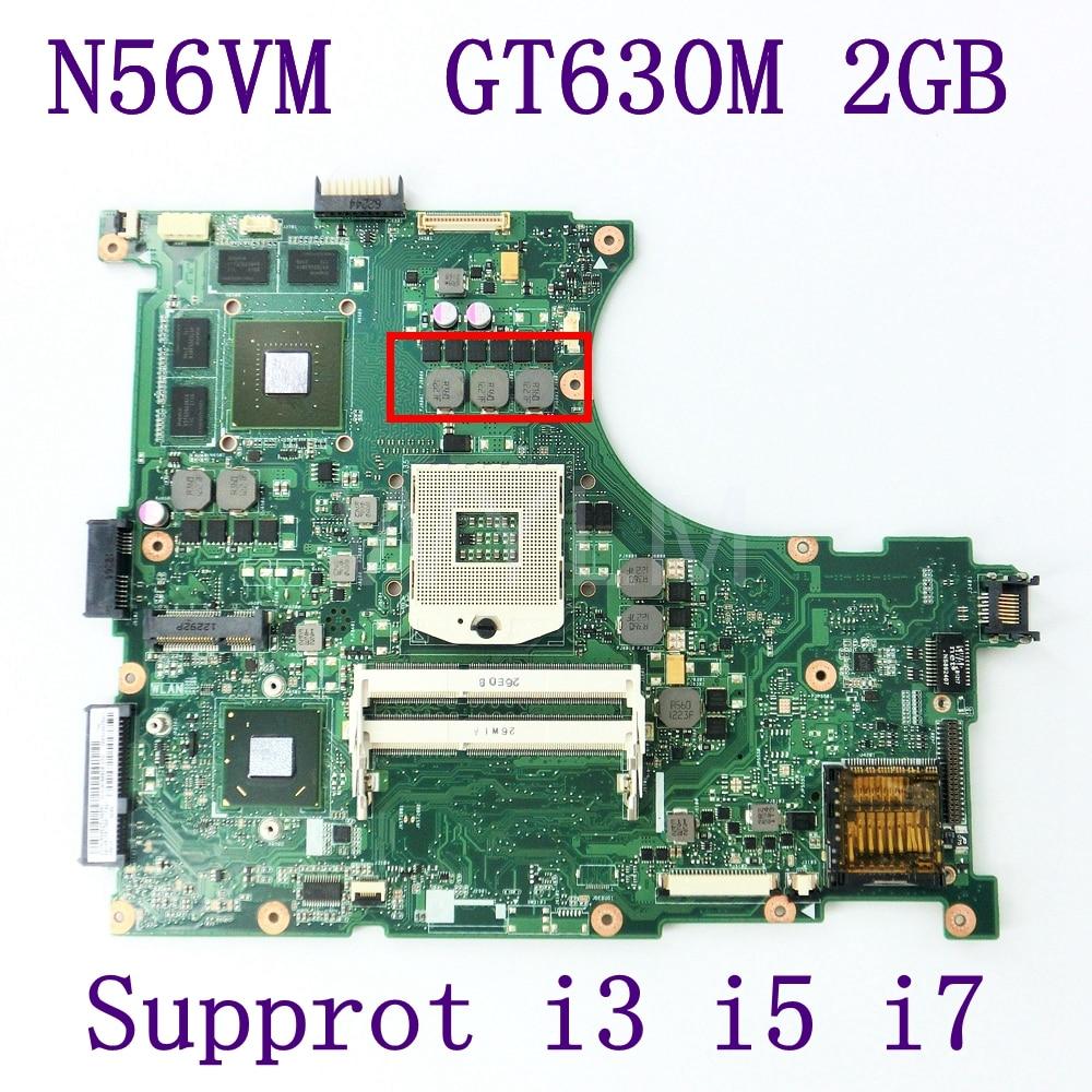 N56VM GT630M 2GB Motherboard For ASUS N56V N56VZ N56VJ N56VV N56VB Laptop motherboard N56VM REV 2.3 Mainboard 100% TestedN56VM GT630M 2GB Motherboard For ASUS N56V N56VZ N56VJ N56VV N56VB Laptop motherboard N56VM REV 2.3 Mainboard 100% Tested