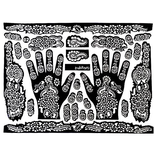 Tattoo Templates Hands Feet Henna Stencils For Airbrushing Mehndi Body Painting