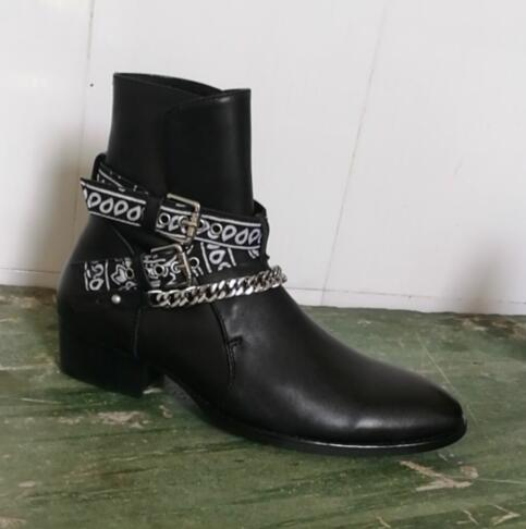 2019 FR.LANCELOT Newest Fashion Brand Genuine Leather Men Boots Ankles Botas Chains Buckles Low Heel Shoes Mens Sapatos Mujer2019 FR.LANCELOT Newest Fashion Brand Genuine Leather Men Boots Ankles Botas Chains Buckles Low Heel Shoes Mens Sapatos Mujer
