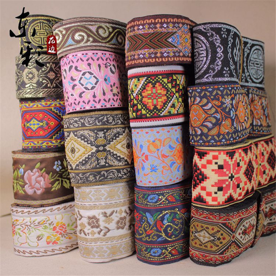 10yards chinese jacquard lace ribbon diy craft apparel for Sewing and craft supplies