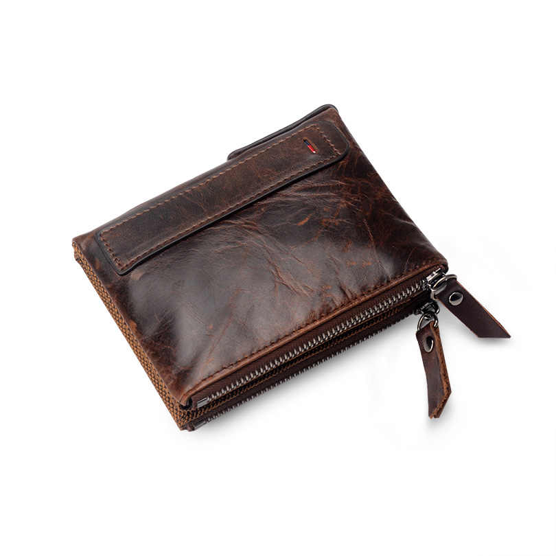 COHEART Wallet Women genuine leather top quality female wallet purse small wallet zipper coin pocket card holders card wallet