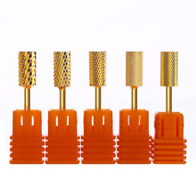 1Pc Gold Nail Drill Bit Smooth Top Round Drill Burr for Electric Machine Drill Accessories Nail Mills Nail Art Tools top grade mills