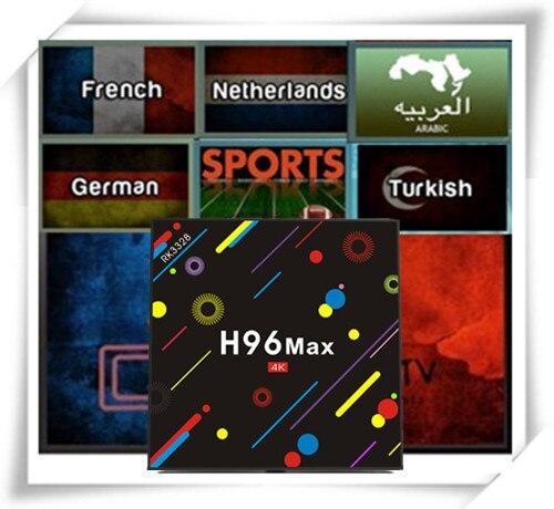 H96 MAX Android7.1 TV BOX 432G With FrenchArabicNetherlandTurkishIndiaEX-YUUKCAAfricaGermanySwenishPortugal IPTV VOD