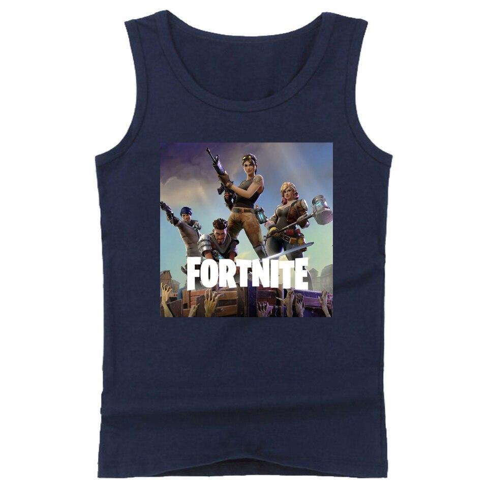 2018 Fortnite Funny Game Tank Top Men Unique Sleeveless Shirt Bodybuilding Fitness Men Hip hop Tank Tops Vest Plus Size 4XL