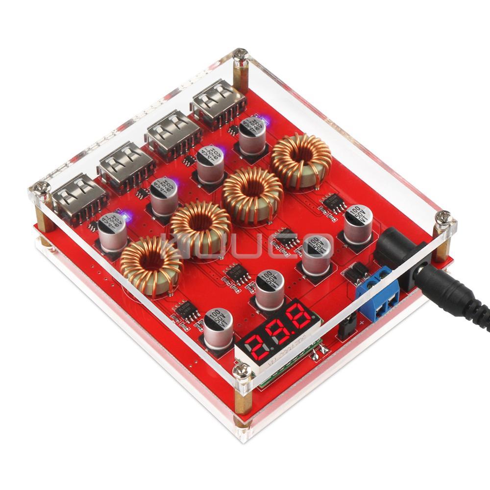 5 PCS/LOT 100W Adapter DC 8V~30V to 5V USB Voltage Regulator Quick Charge 3.0 USB Charging Module DC 5V USB Charger 28ybt 48 dc 5v плата шагового двигателя с uln2003 драйвер