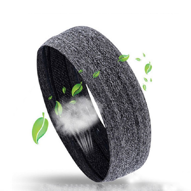 цена Drop Ship 24.5CM Absorbent Sport Sweat Headband Sweatband For Men Women Yoga Hair Bands Head Sweat Bands Sports Safety