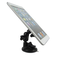 2017 Styling Double Suction Cup Rotatable Tablet Phone Car Holder Stand Bracket For Car Sucker Phone