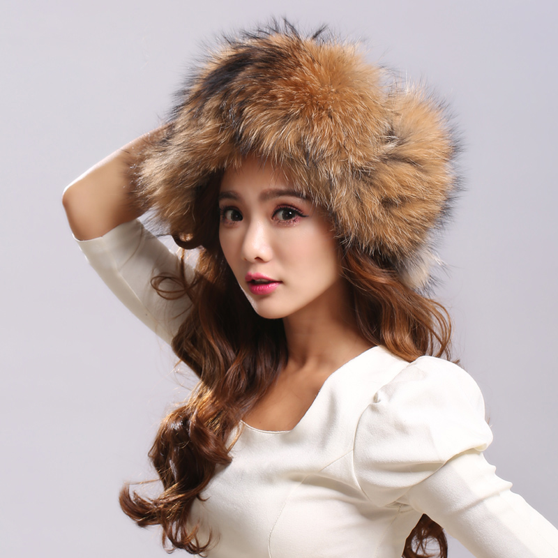 Fur Bomber Hats Women Unisex Real Fox Fur Caps Female With Farps Beanies Hat Solid Waterpoof Fabric Russian Winter Hat
