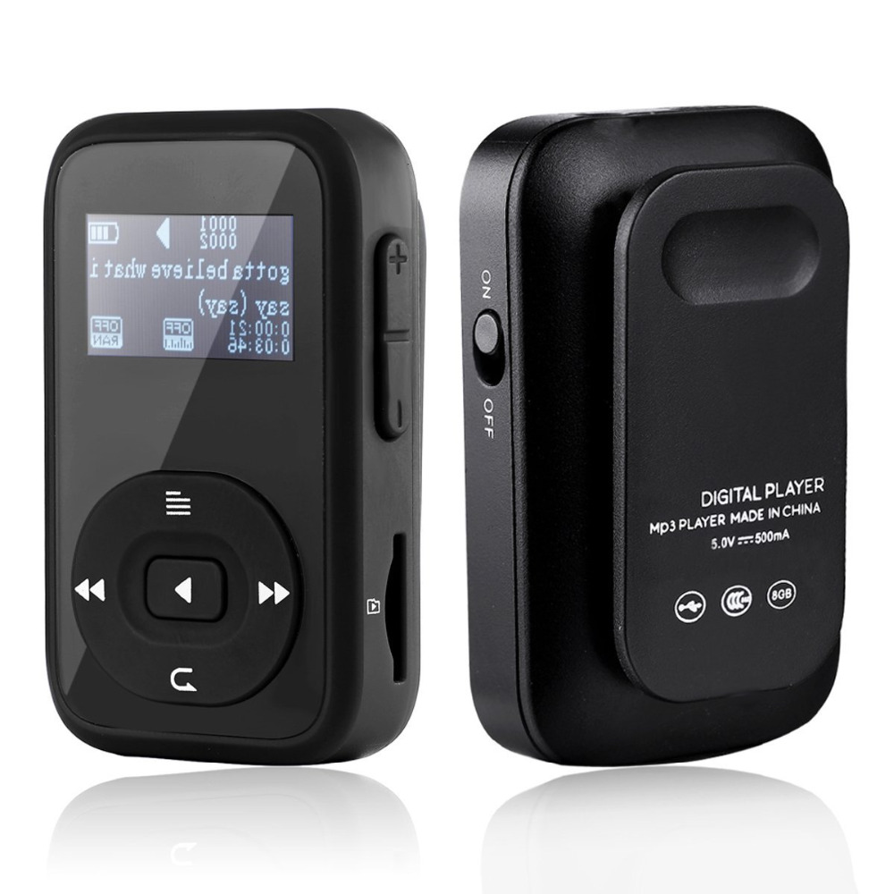 Sports Clip Bluetooth MP3 Music Player RUIZU-X26 8GB With Lossless Sound and Expandable MicroSD Slot Support 64GB + free armband