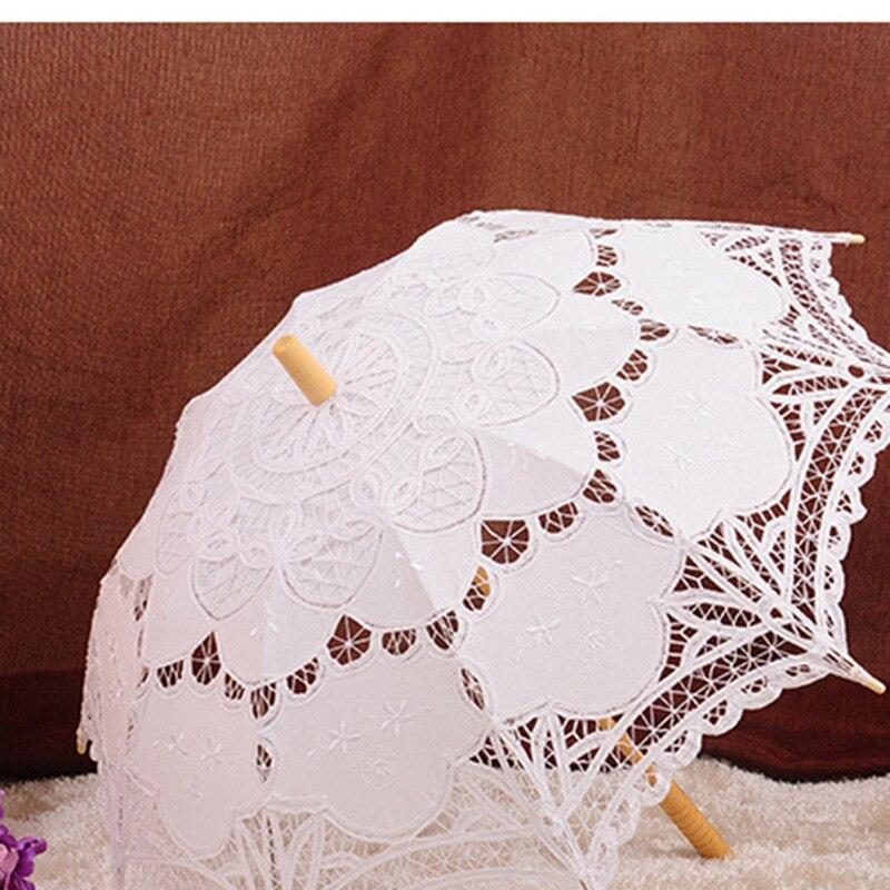 Ücretsiz Kargo Dantel Manuel Açılış Düğün Şemsiye Gelin - Düğün Aksesuarları - Fotoğraf 4